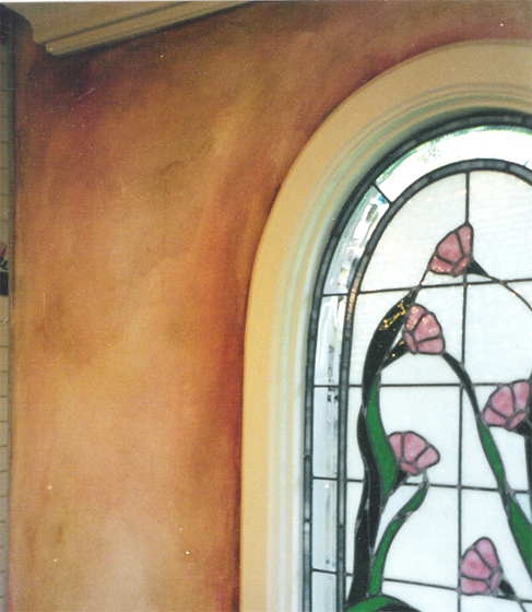 Faux Finish - Bathroom Stainedglass