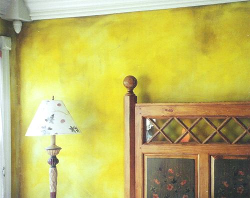 Faux Finish - Yellow Bedroom